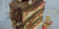 Tort Czekoladowy z Malinami ( Chocolate Layer Cake with Raspberries)